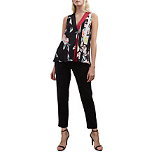 Buy French Connection Enshima Top, Black/Multi Online at johnlewis.com