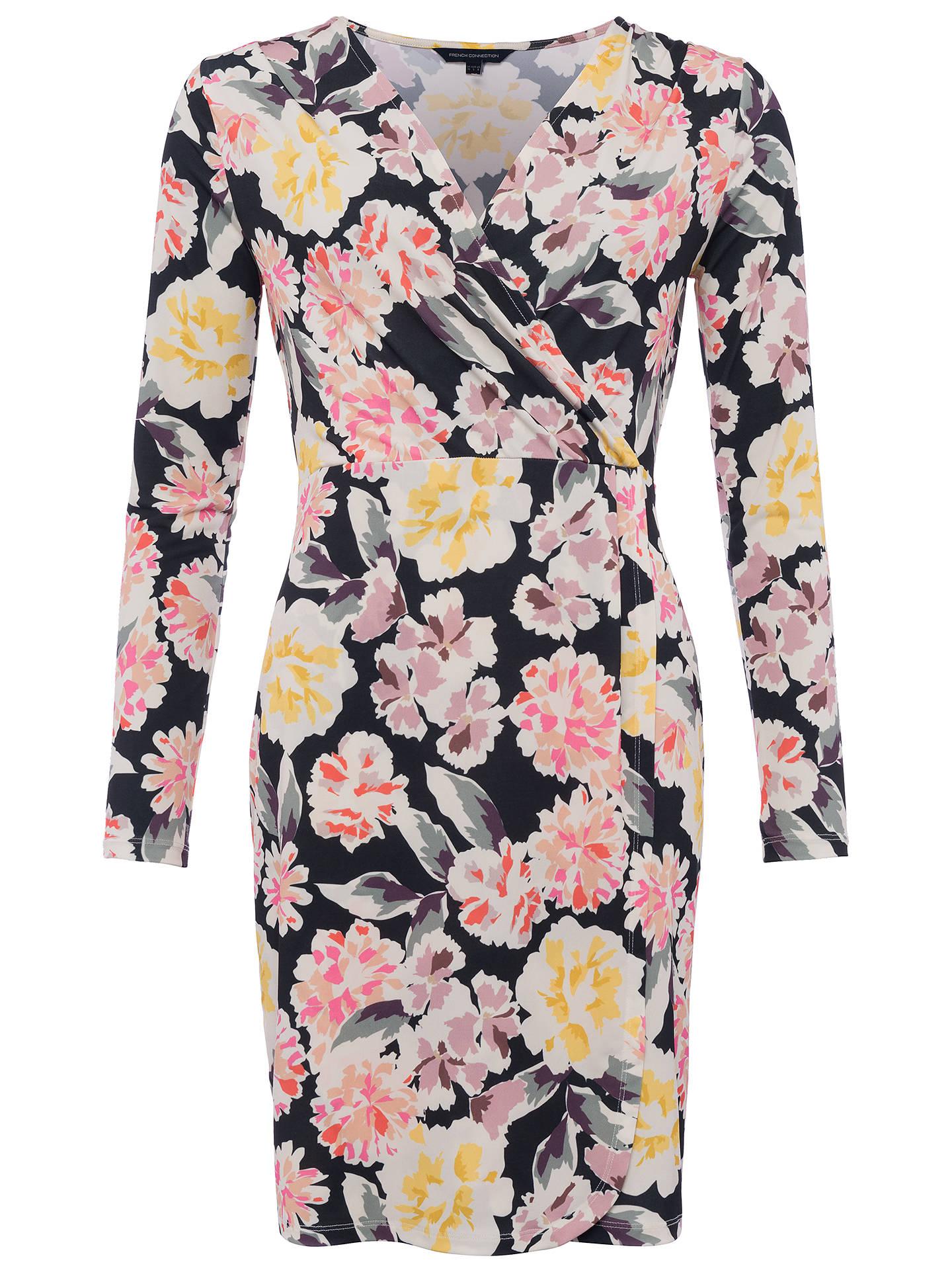 67c18751cd3 Buy French Connection Enoshima Printed Dress, Black/Multi, 6 Online at  johnlewis.