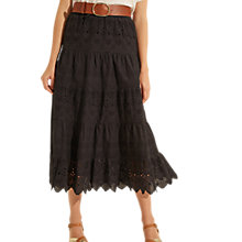Buy Gerard Darel Allure Skirt, Black Online at johnlewis.com