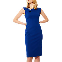 Buy Karen Millen Fold Detail Pencil Dress, Blue Online at johnlewis.com