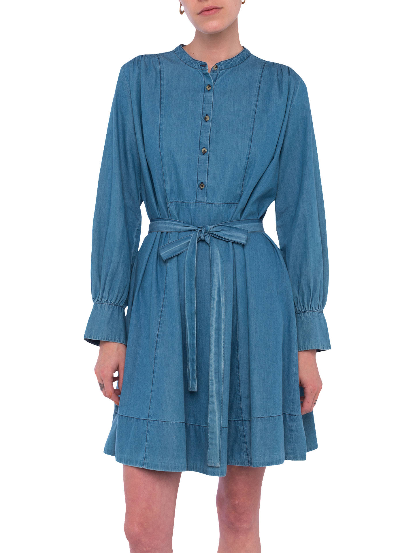 ecd785595 Buy French Connection Tidore Chambray Dress, Bleach Blue, 6 Online at  johnlewis.com ...