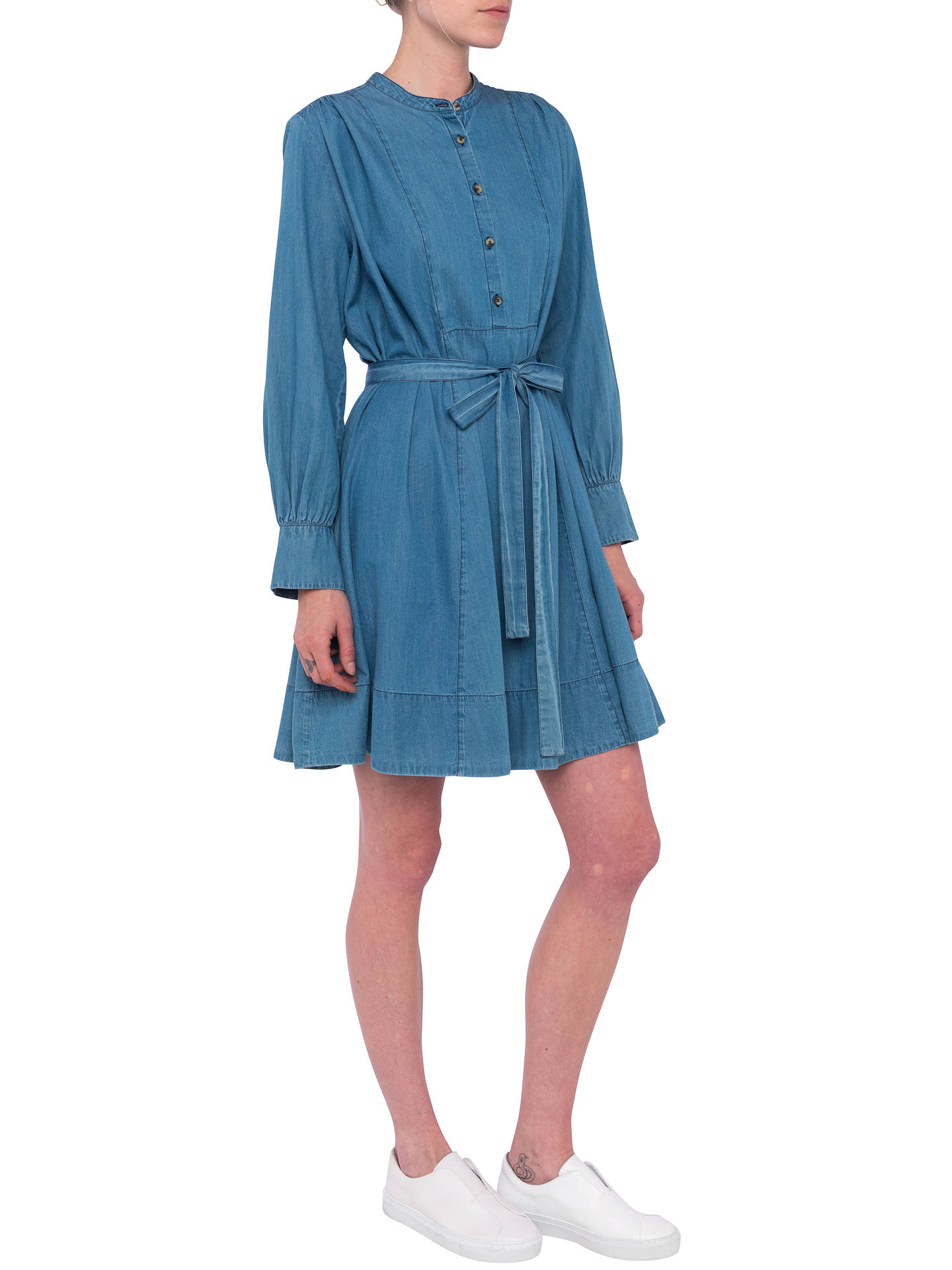 58a71860f ... Buy French Connection Tidore Chambray Dress, Bleach Blue, 6 Online at  johnlewis.com ...