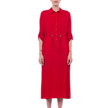 Buy French Connection Cecil Long Draped Shirt Dress, Blazer Red Online at johnlewis.com