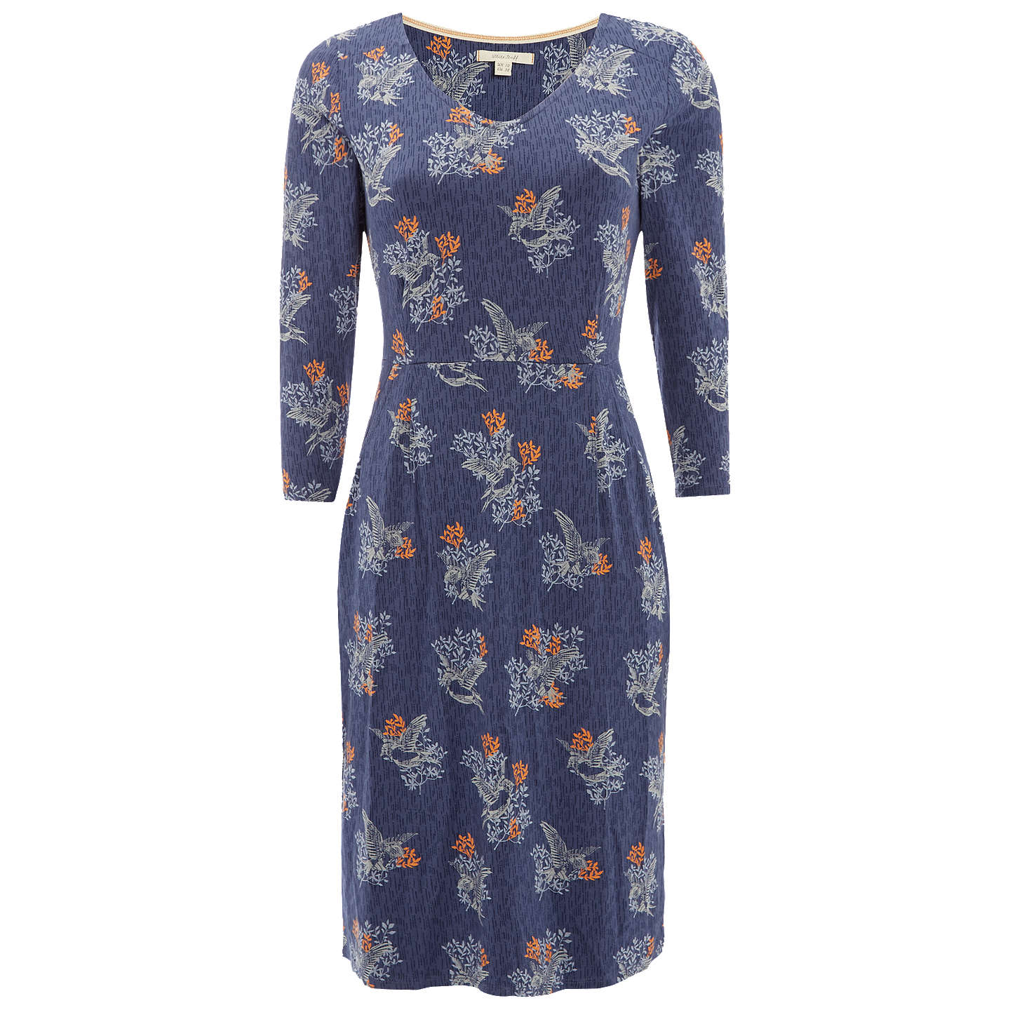 BuyWhite Stuff Tess Jersey Dress, Brooklyn Blue Print, 6 Online at johnlewis.com