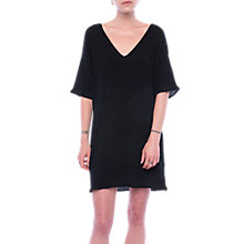 Buy French Connection Susui Seersucker V Neck Dress, Charcoal Online at johnlewis.com