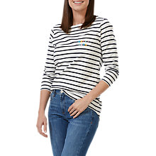 Buy Sugarhill Boutique Brighton Happy Days Top, Cream/Navy Online at johnlewis.com