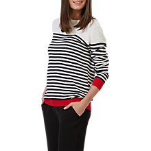Buy Sugarhill Boutique Nautical Stripe Sweater, Cream/Navy Online at johnlewis.com