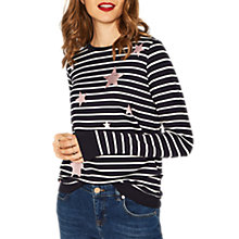 Buy Oasis Star Stripe Jumper, Multi/Blue Online at johnlewis.com