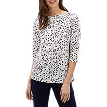 Buy Jaeger Ditsy Print Jersey Top, Navy Online at johnlewis.com