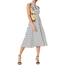 Buy Karen Millen Floral Polka Dress, Multi Online at johnlewis.com