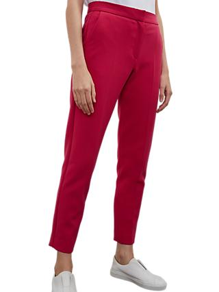 French Connection Sundae Suiting Trousers, Magenta Haze