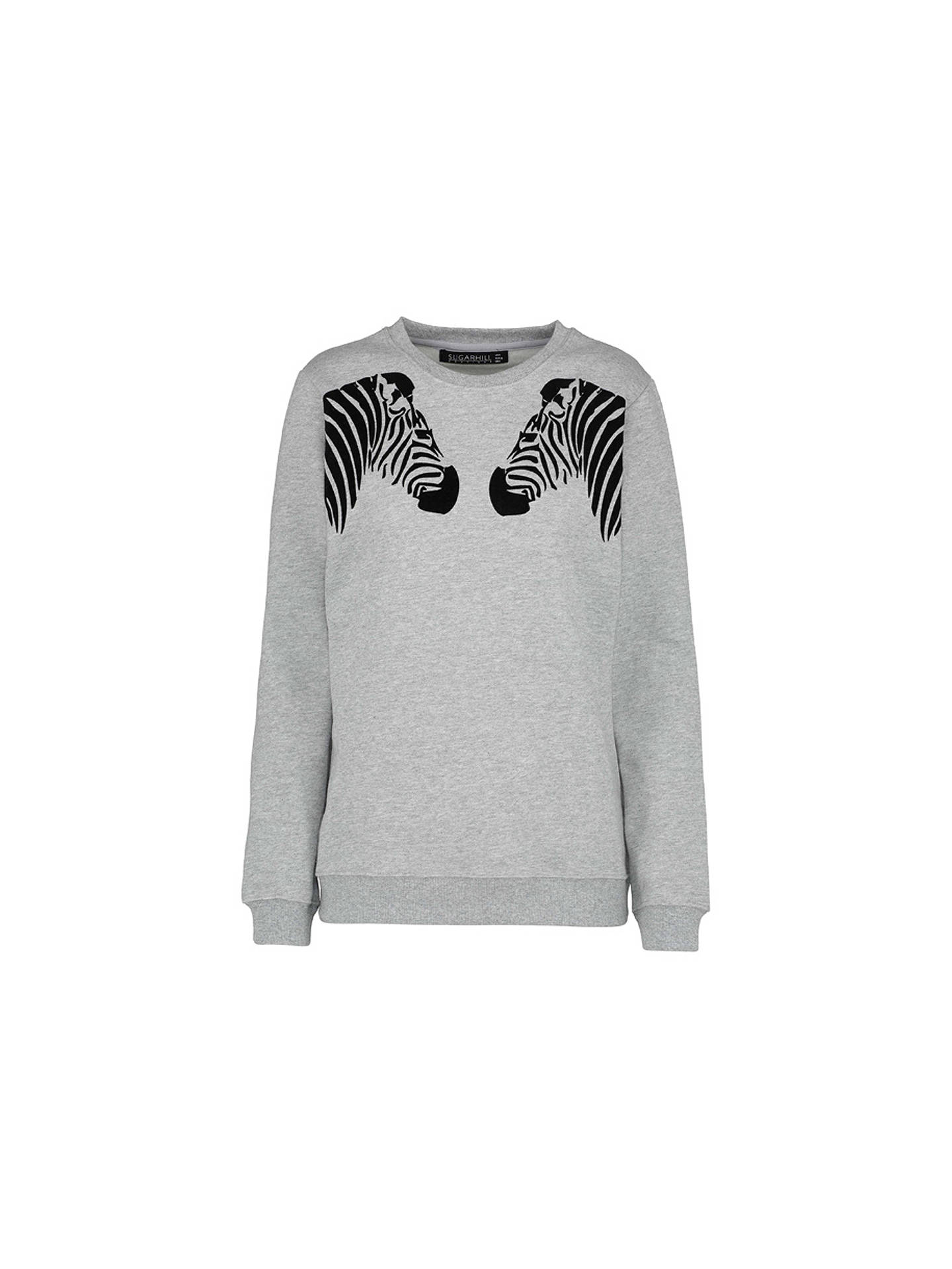 Buy Sugarhill Brighton Alanis Zebra Sweatshirt, Grey Marl, 8 Online at johnlewis.com