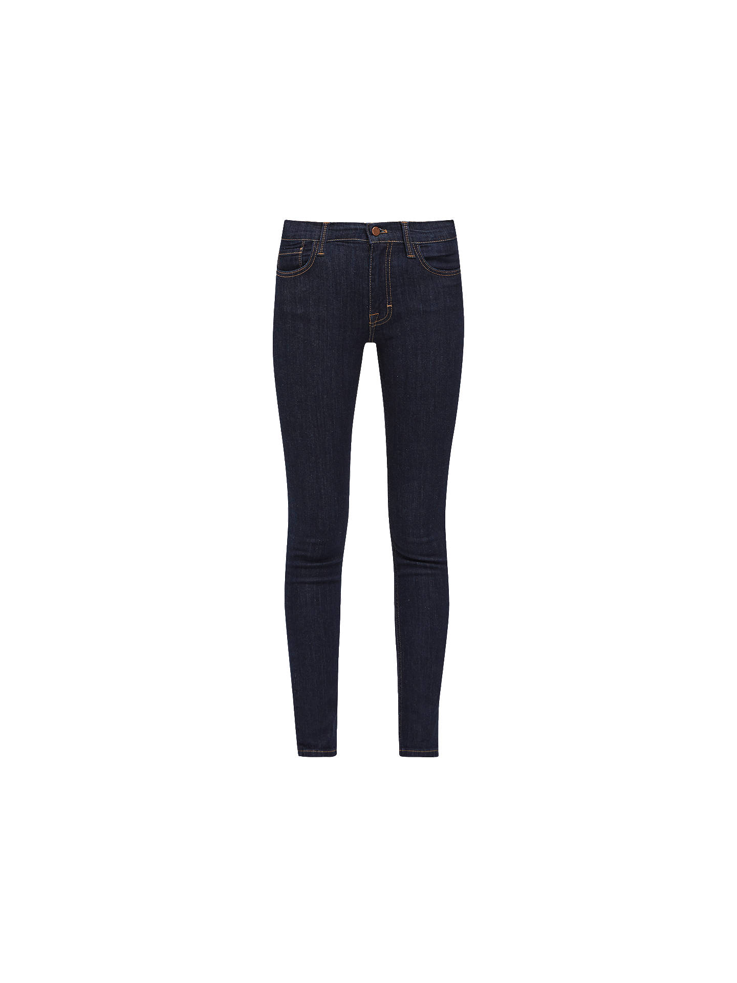 Buy French Connection Skinny Stretch Denim Jeans, Indigo, 6 Online at johnlewis.com