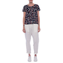 Buy French Connection Chira T-Shirt, Utility Blue Online at johnlewis.com