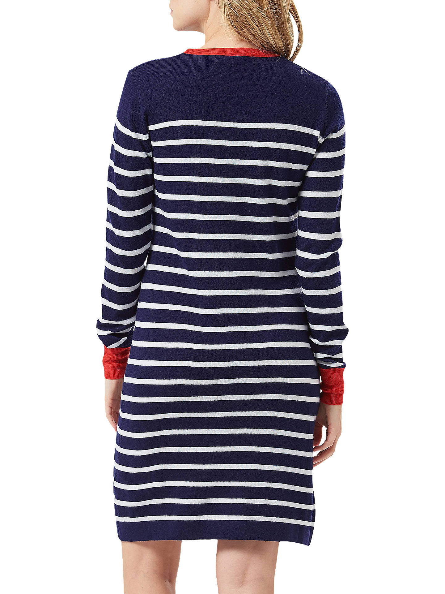 Buy Sugarhill Brighton Evie Hearts Dress, Navy/White, 8 Online at johnlewis.com