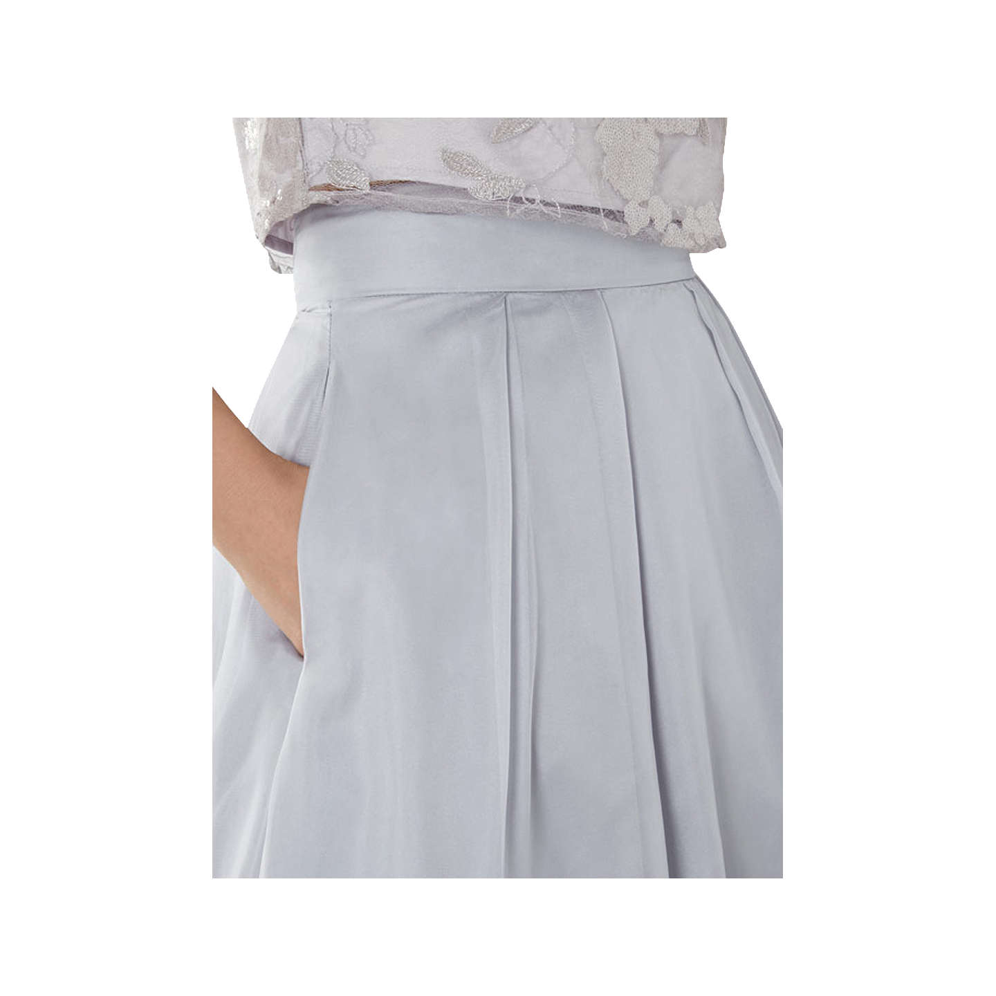 BuyCoast Iridesa Skirt, Silver Grey, 6 Online at johnlewis.com
