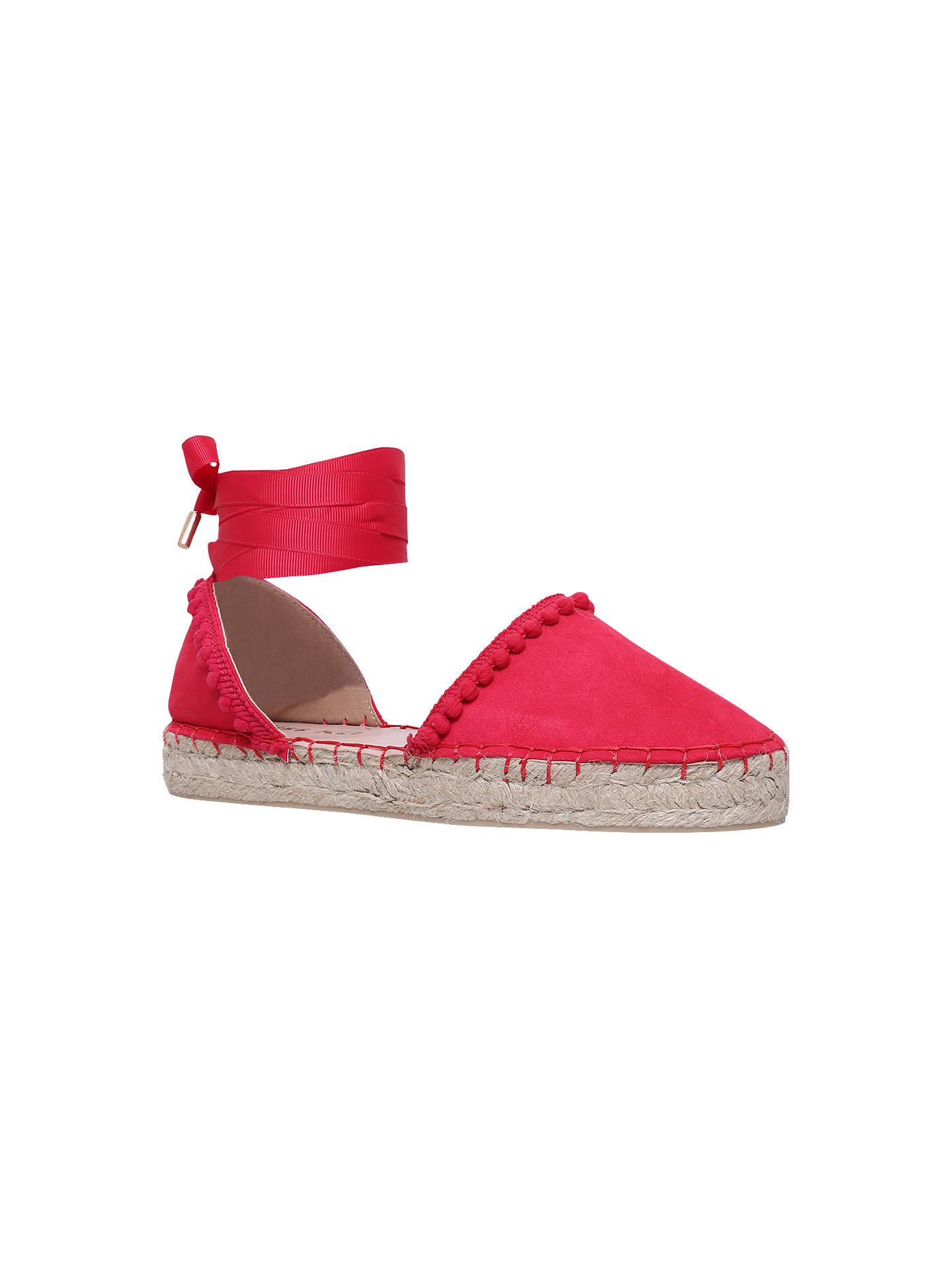03b048d487e Miss KG Dizzy Ankle Tie Espadrilles, Pink at John Lewis & Partners