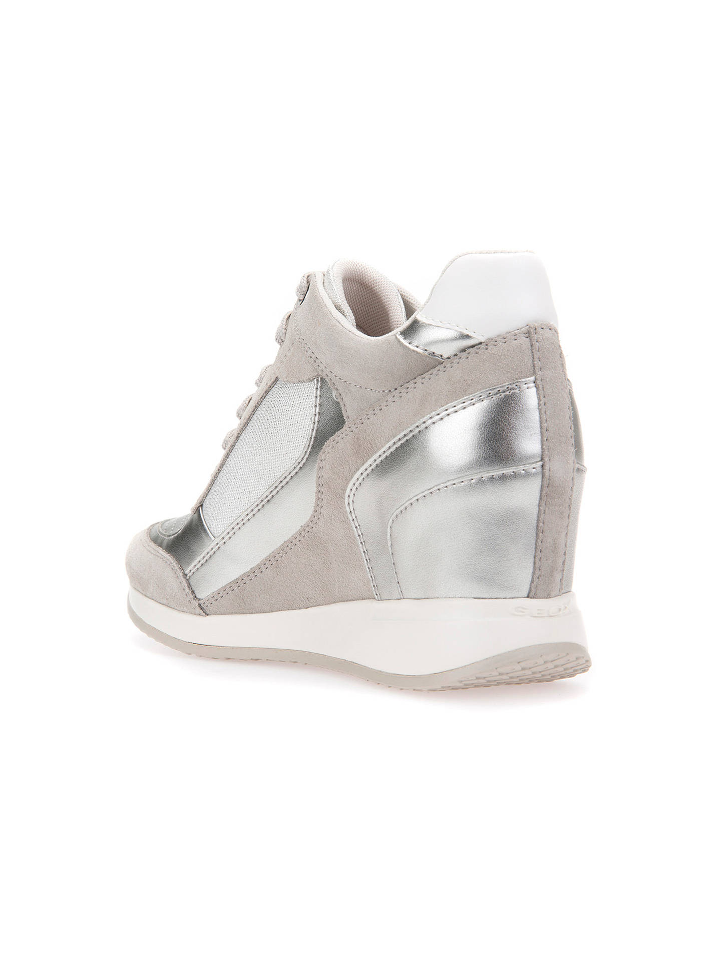 12557db9ab8 Geox Women s Nydame Wedge Heel Zip Up Trainers at John Lewis   Partners