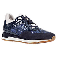 Buy Geox Shahira Lace Up Trainers, Navy Online at johnlewis.com