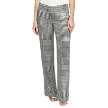 Buy Reiss Phia Wide Leg Check Trousers, Off White Online at johnlewis.com