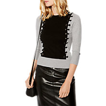 Buy Karen Millen Gauge Eyelet Jumper, Grey/Multi Online at johnlewis.com