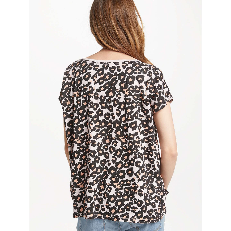 Maison Scotch Oversized Leopard Print T Shirt Multi at John Lewis