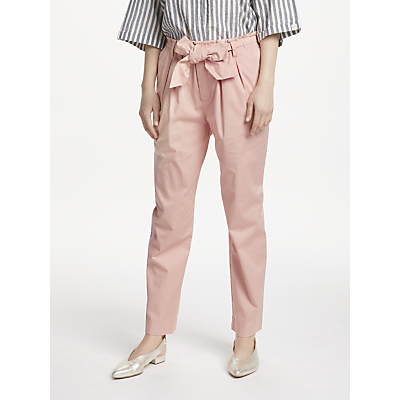 Maison Scotch Paperbag Tapered Leg Trousers, Blush Pink