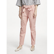 Buy Maison Scotch Paperbag Tapered Leg Trousers, Blush Pink Online at johnlewis.com