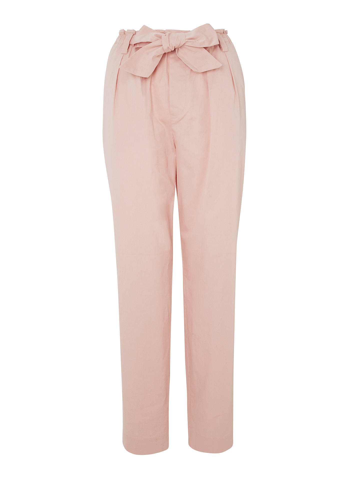 BuyMaison Scotch Paperbag Tapered Leg Trousers, Blush Pink, XS Online at johnlewis.com