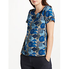 Buy Seasalt Claytrails Top, Block Geo Marine Online at johnlewis.com