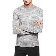 Buy Reiss Babbington Crew Neck Jumper, Grey Online at johnlewis.com