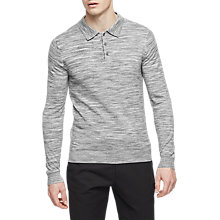 Buy Reiss Ryan Long Sleeve Slim Fit Polo Shirt, Grey Online at johnlewis.com