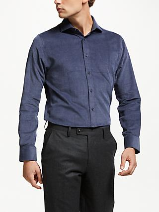 John Lewis & Partners Non Iron Cotton Cord Tailored Fit Shirt, Ecru