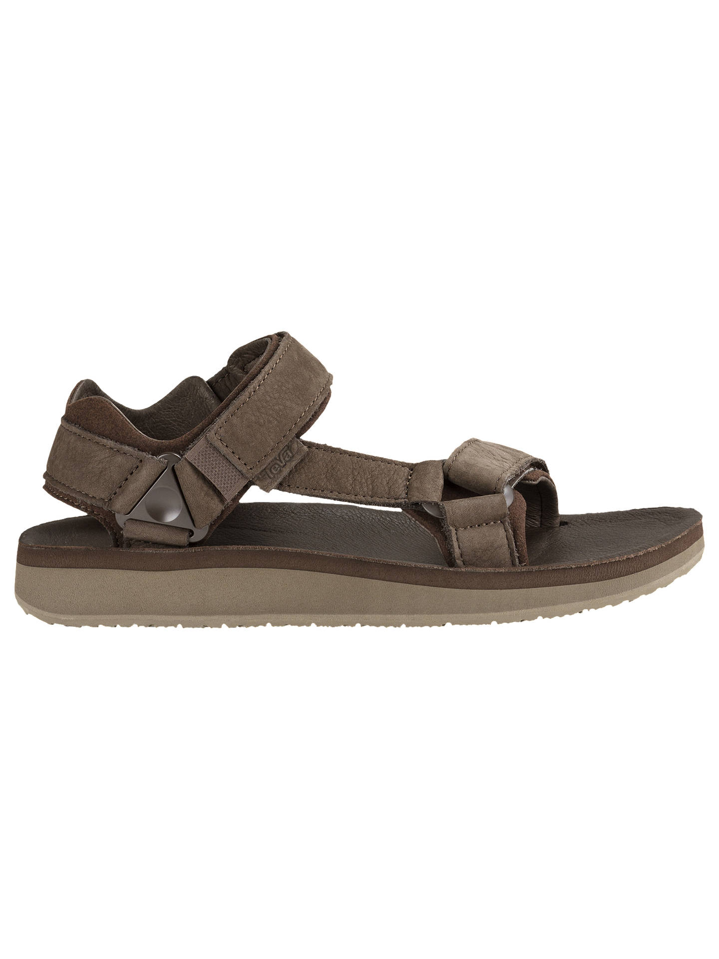 BuyTeva Original Leather Sandals, Chocolate, 7 Online at johnlewis.com