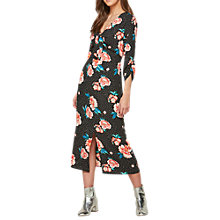 Buy Miss Selfridge Floral Spot Tie Midi Dress, Multi Online at johnlewis.com