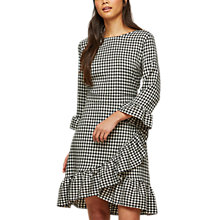 Buy Miss Selfridge Gingham Frill Dress, Multi Online at johnlewis.com