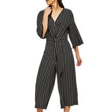 Buy Miss Selfridge Striped Knot Jumpsuit, Multi Online at johnlewis.com