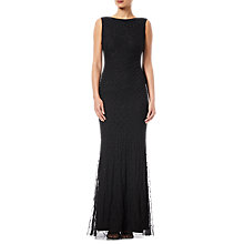 Buy Adrianna Papell Beaded Mermaid Gown, Black Online at johnlewis.com