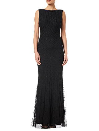 Buy Adrianna Papell Beaded Mermaid Gown, Black, 8 Online at johnlewis.com