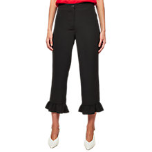 Buy Miss Selfridge Frill Hem Trousers, Black Online at johnlewis.com