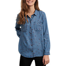 Buy White Stuff Star Print Shirt, Blue Online at johnlewis.com