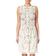 Buy Adrianna Papell Beaded Dress, Ivory/Multi Online at johnlewis.com