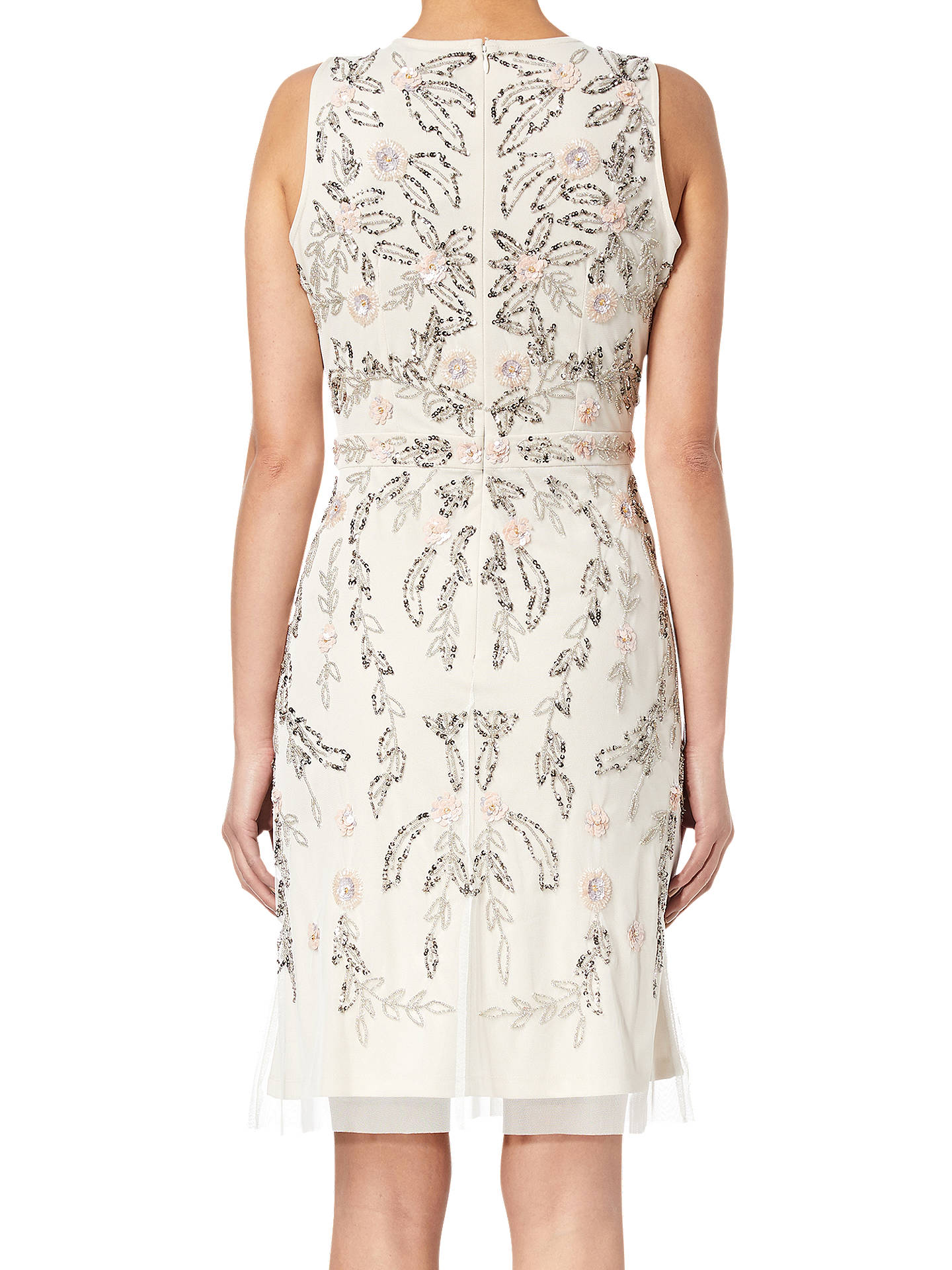 Buy Adrianna Papell Beaded Dress, Ivory/Multi, 6 Online at johnlewis.com