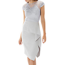 Buy Coast Florina Ruffle Skirt, Grey Online at johnlewis.com