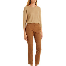 Buy Gerard Darel May Leather Trousers, Brown Online at johnlewis.com