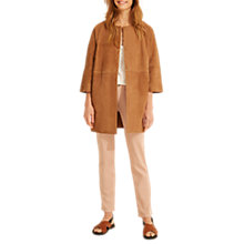 Buy Gerard Darel Victoire Leather Coat, Brown Online at johnlewis.com