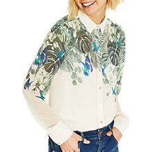 Buy Oasis Calathea Shirt, Natural/Multi Online at johnlewis.com
