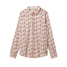 Buy White Stuff Happy Days Print Shirt, Fondant Pink Online at johnlewis.com