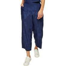 Buy Miss Selfridge Jaquard Wide Leg Trousers, Navy Online at johnlewis.com