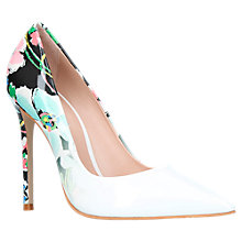 Buy Carvela Alice Stiletto Heeled Court Shoes, White Online at johnlewis.com